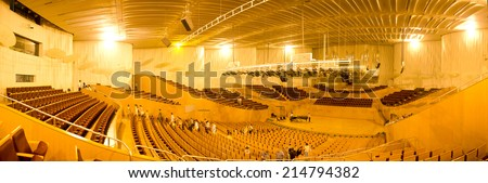 Interior view of music hall - stock photo