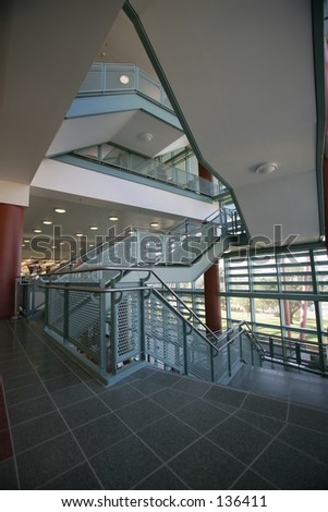 Interior View Of Staircase - stock photo