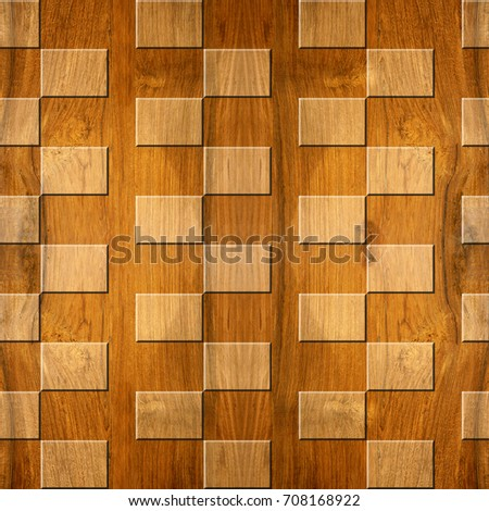 Abstract Paneling Pattern Waves Decoration Wavy Stock