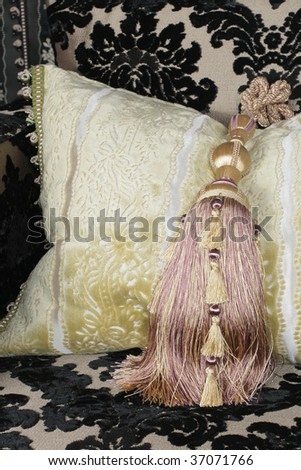 Interior with a pillow - stock photo