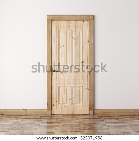 Wood doors stock images royalty free images vectors for Natural wood doors interior