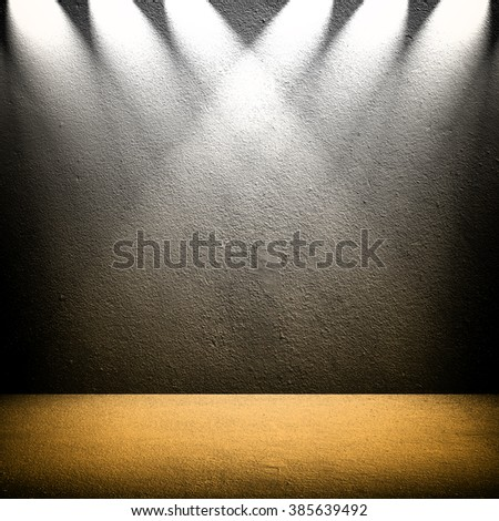 interior with spotlight background - stock photo