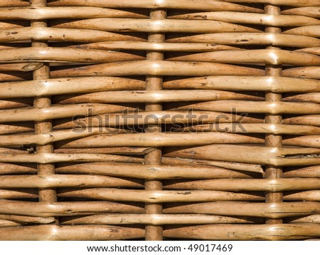 Interlacing twigs of the basket - stock photo