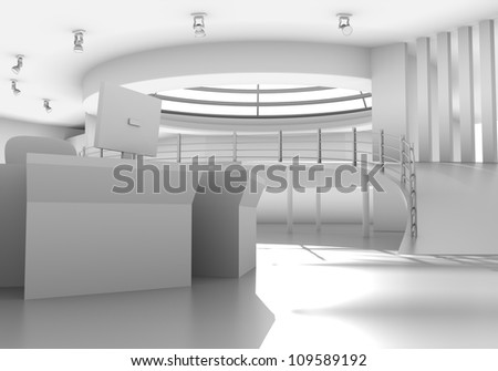 internal a public building - stock photo