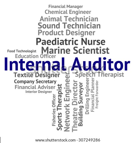 Internal Auditor Showing Inner Words And Actuary - stock photo