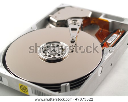 Internal Hard Drive with the Case Opened