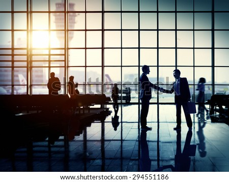 International Airport Business Travel Airport Terminal Concept - stock photo