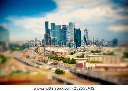 International business center Moscow City, Moscow, Russia. modern architecture - stock photo