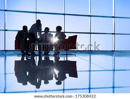 International Business Group Meeting - stock photo