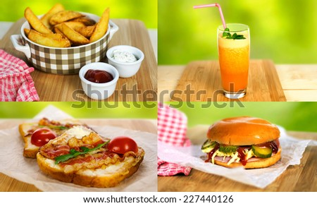 International cuisine - stock photo