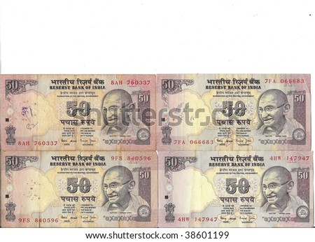 Rupee Note Vector Indian Rupee Notes With