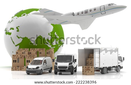 International goods transport - Trade in Asia  - stock photo