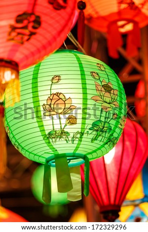 International lanterns, Chiang Mai, Thailand