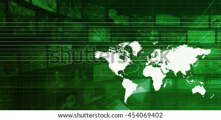 International Logistics and Supply Chain Concept Background