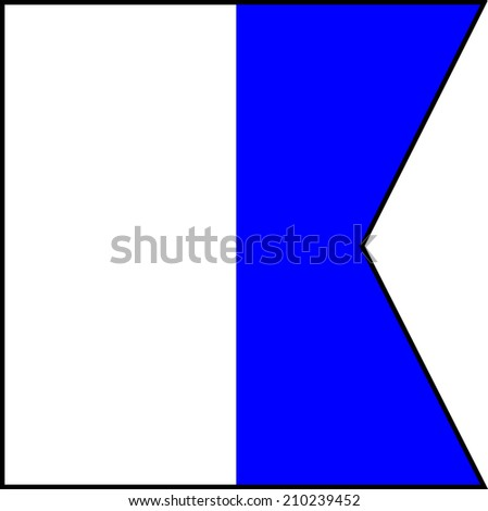 International maritime signal flags sea alphabet collection letter a - stock photo