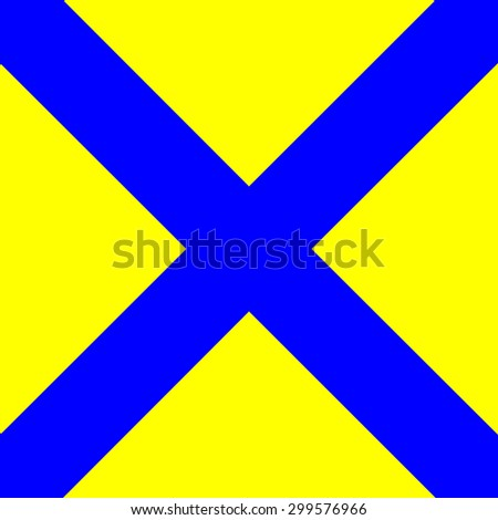 International maritime signal flags sea alphabet collection number 5 - stock photo