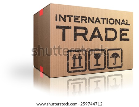 International trade and global transport Logistics freight transportation import and export market