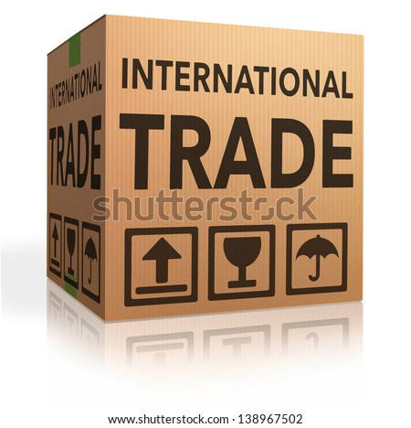 international trade on global and worldwide market world economy freight transportation for import and export - stock photo