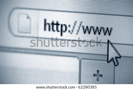 Internet address, computer screen