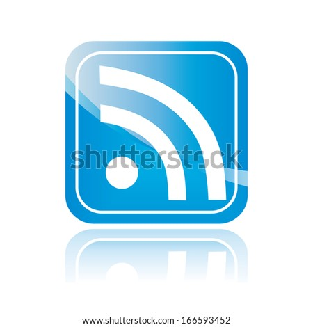 internet blue symbol, isolated icon, sign. Wireless Network button. illustration.