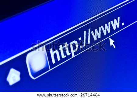 Internet browser on a WWW URL address