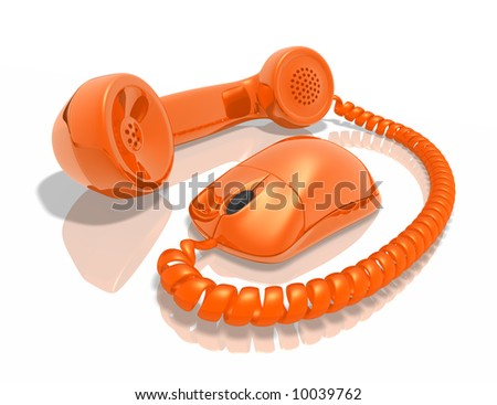 Internet Call - stock photo