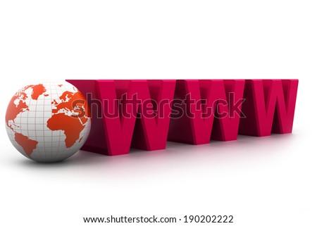 Internet concept - stock photo