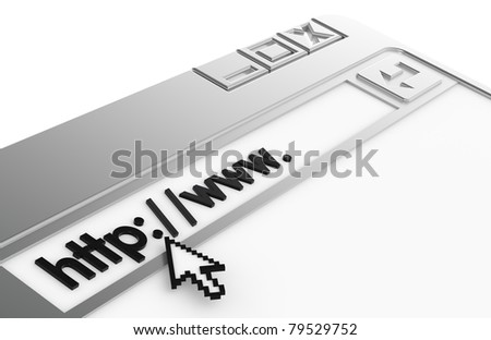 Internet Concept. Chrome. Chrome Browser Window - stock photo