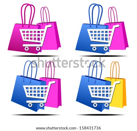 Internet Concept icons computer shopping on the web - Raster version - stock photo