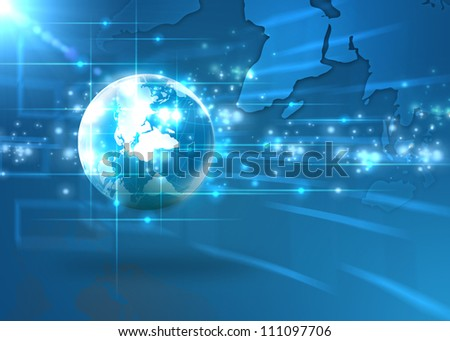 Internet Concept of global - stock photo