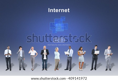 Internet Connection Business People Concept