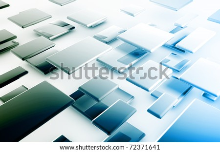 Internet Connection Data on a Secure Network - stock photo