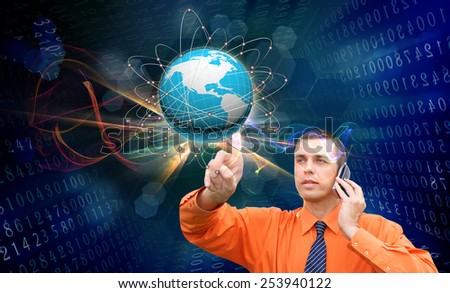 Internet connection.E-business - stock photo