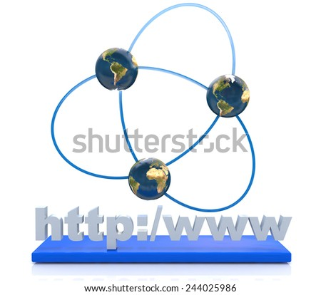 Internet connection - Elements of this image furnished by NASA - stock photo