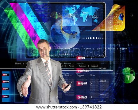 Internet.E-mail.Network website background - stock photo