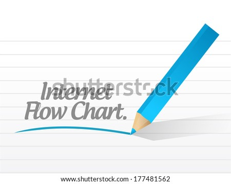 internet flow chart message illustration design over a white background - stock photo