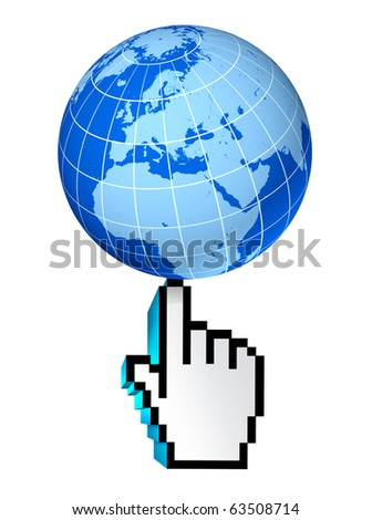 internet global Europe european union Germany France England Italy web earth connections interactive touch symbol select world wide conected communications technology isolated - stock photo