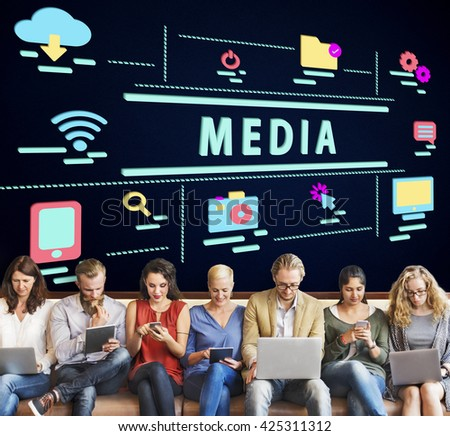 Internet High-Tech Digital Icon Graphic Concept - stock photo