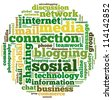 Internet info-text graphics and arrangement concept on white background (word cloud) - stock photo