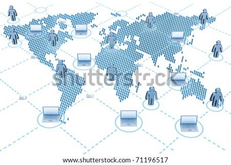 Internet map - stock photo
