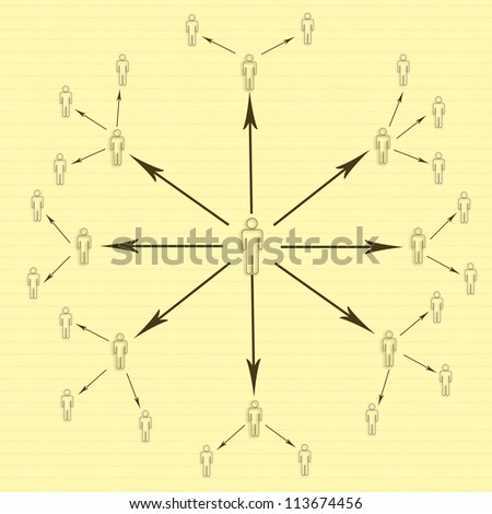 Internet marketing and networking - stock photo