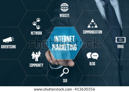 INTERNET MARKETING TECHNOLOGY COMMUNICATION TOUCHSCREEN FUTURISTIC CONCEPT
