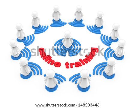 Internet online training concept. Abstract 3d illustration. - stock photo