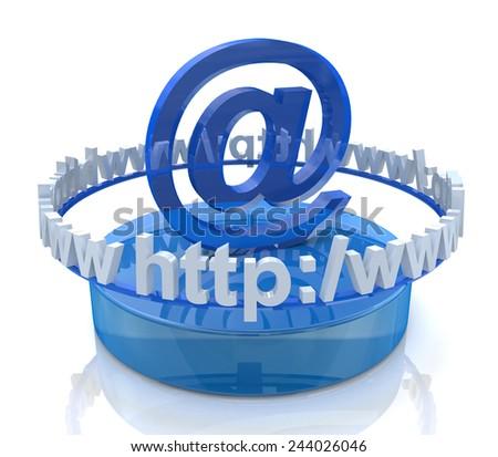 Internet scene - e-mail concept  - stock photo
