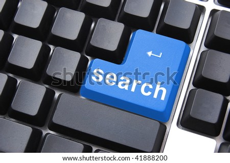 internet search concept with computer keyboard button