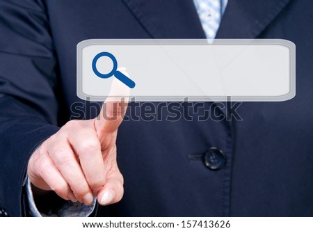 Internet Search Toolbar - stock photo