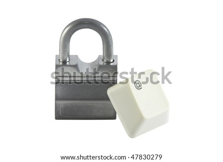 Internet security. Clipping path included. - stock photo