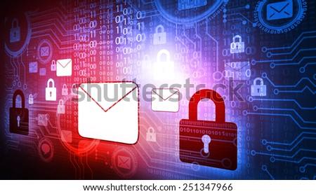 Internet Security concept - stock photo
