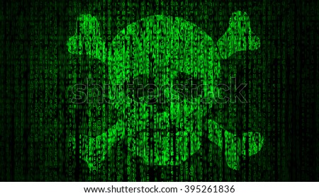 Internet Security concept with skull
