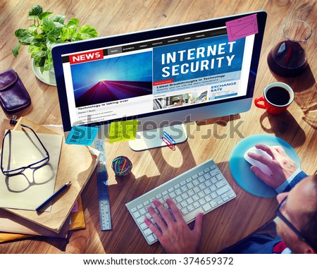 Internet Security Connection Technology Network Concept - stock photo